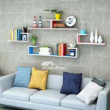 bedroom shelves wall shelves rectangular white hanging storage bedroom wooden wall