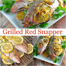 Mediterranean Style Food - grilled red snapper savory experiments
