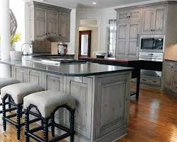 stains for kitchen cabinets gray stained washed hickory cabinets house pinterest