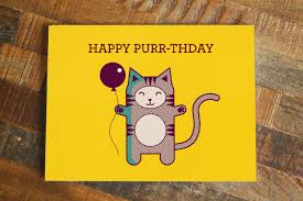 cat pun birthday card