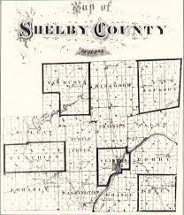 Ohio Map Counties by The Usgenweb Archives Digital Map Library Shelby Ohio County Maps