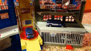 matchbox car play table matchbox police headquarters playset with jail escape and three