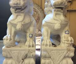 marble foo dogs foo dog statue in marble foo dogs statue fu dogs marble