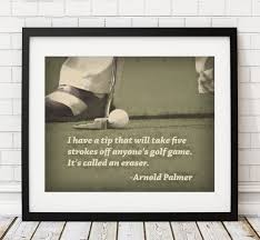 golf print golf art arnold palmer quote poster home gym golf