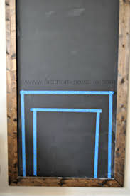 christmas chalkboard fireplace first home love life