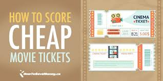 how to score cheap movie tickets