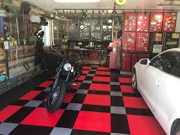 stan s rustic elegance garage stan s garage floor tile in a working man