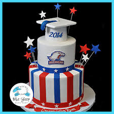 american university graduation cake blue sheep bake shop