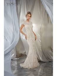 mori bridal mori 6869 musidora gatsby beaded sheath style bridal gown