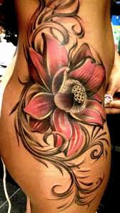 Big Flower Tattoos On - big flower on hip thigh ink therapy big flowers