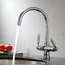 ENKI Traditional Classic Twin Lever Chrome Monobloc Kitchen Sink - Kitchens sinks and taps
