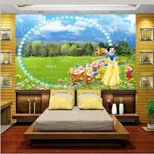 online get cheap princess wallpaper mural aliexpress com custom 3d photo wallpaper mural kids room bedroom pearl princess seven dwarfs painting sofa tv background wall non woven sticker