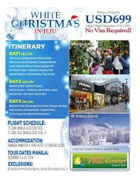 7107 adventure travel and tours white christmas in jeju no visa
