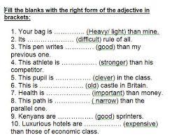 comparative and superlative worksheets worksheets