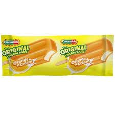 popsicle creamsicle orange cream bar 2 7 oz walmart com