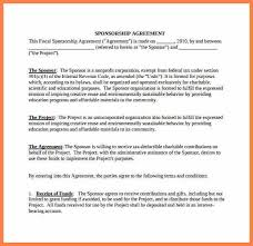 9 non profit sponsorship agreement template purchase agreement