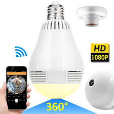 light bulb security system wireless led bulb wifi ip hidden camera 360 degree panoramic 1080p