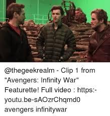 Video Clip Memes - clip 1 from avengers infinity war featurette full video https