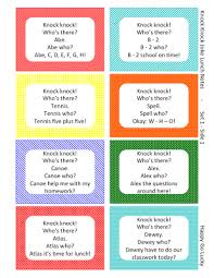 design thanksgiving knock jokes lunch box notes free
