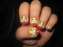 nail art design mr krabs spongebob character not as good u2026 flickr