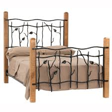 Wood And Iron Bed Frames Sassafras Wrought Iron Bed Humble Abode