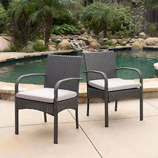 Dining Chairs With Cushions Outdoor Wicker Chair Ebay