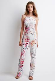 forever 21 white jumpsuit abstract print halter jumpsuit forever 21 2000076736 wish