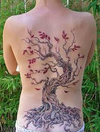 full back simple tree tattoo design idea golfian com