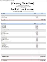 Sle Profit And Loss Statement Small Business by Profit And Loss Sle Template Kodiaq Zawaj Info