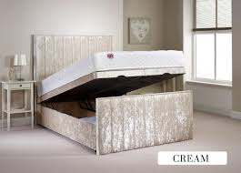 Ottoman Divan Furniture Peacehaven 5ft Kingsize Fabric Ottoman Bed
