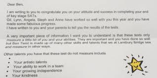 sats writing papers teacher sends boy with autism touching letter following sats exam teacher sends boy with autism touching letter following sats exam results huffpost uk