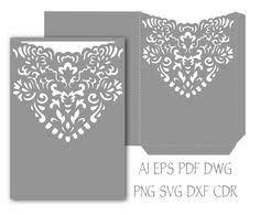 5x7 wedding invitation pocket envelope svg by narisaridigitalart