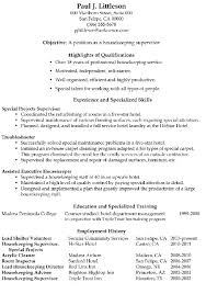 housekeeping cleaning resume sample resume genius with regard