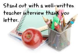 send a teacher interview thank you letter teacher pinterest