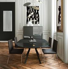 extendable anthracite dining table ml sephira modern dining