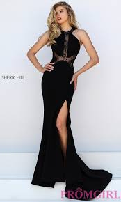 black lace dress sherri hill black lace dress promgirl