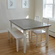 Modern White Dining Room Diy Table Ikea Lower Shelf Holds Books And Magazines Modern White