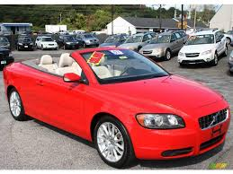 volvo convertible 2007 passion red volvo c70 t5 convertible 19263029 photo 3