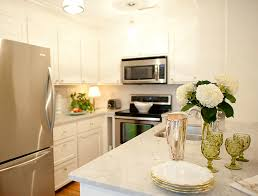 Small White Kitchen Cabinets Small Kitchen Peninsula Design Ideas