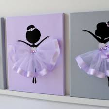 Ballerina Nursery Decor Ballerinas Wall Decor Nursery From Florasshop On Etsy