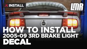 mustang third brake light restore how to install mustang third brake light decal sve 2005 2009