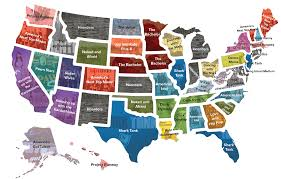 Show Map Of Usa by States By State Map Of The Us U0027s Favorite Reality Tv Shows