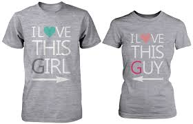 His And Hers Bathroom Set by I Love This U0026 Guy Matching Couple Shirts In Grey Set