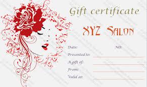 salon gift card hair salon gift certificate template free free printable hair