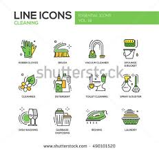 laundry line design cleaning modern line design icons pictograms stock illustration