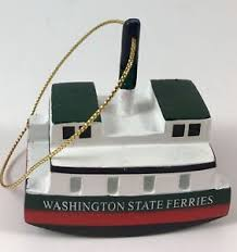 washington state jersey ferries ornament vintage boat ebay