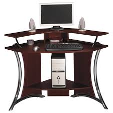 Home Office Furniture Computer Desk Small White Corner Desk Black Painted Pine Wood Corner Desk