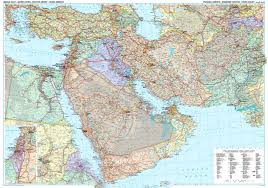 Political Map Of The Middle East by Middle East Wall Map As A Poster Asia Asia Wall Maps