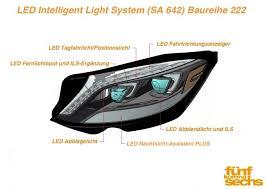 led intelligent light system led intelligent light system sa 642 in der neuen s klasse w222