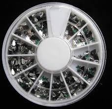 1 set magnificent popular 3d nail art wheel glitter random mixed